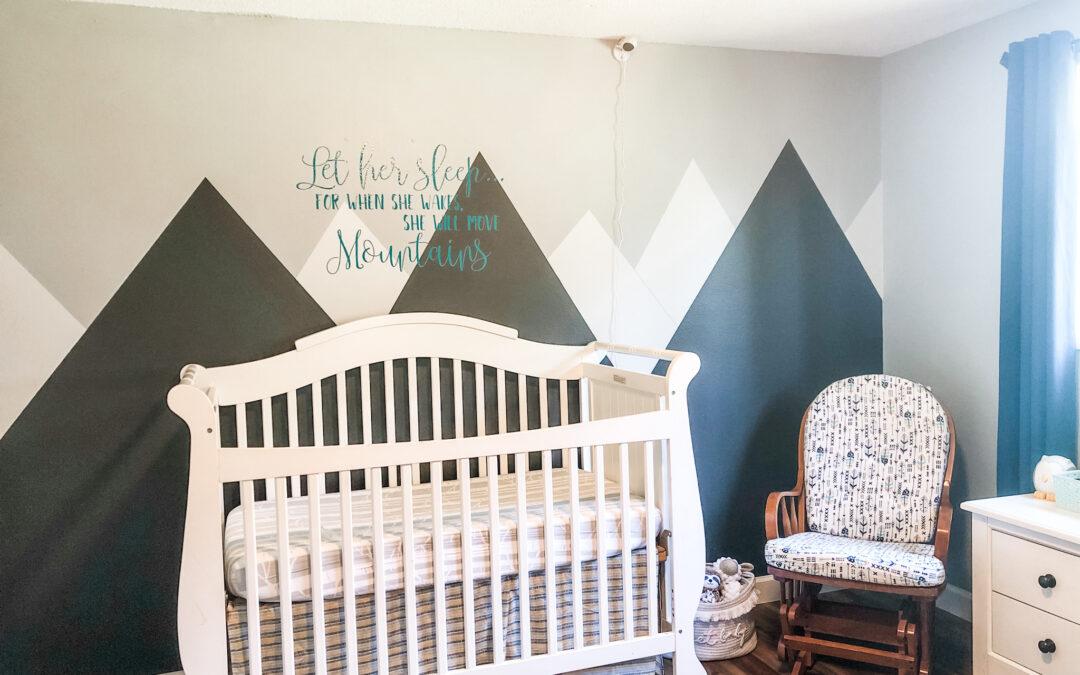 DIY Mountain Mural for Gender-Neutral Nursery